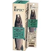 EPIC Smoked Salmon Strips, Wild Caught, 10 Count Box 0.8oz strips