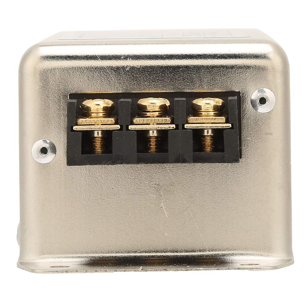 Terminal de filtro EMI de l/ínea de alimentaci/ón monof/ásica de polo /único//doble 10A 50//60Hz Filtro de l/ínea de alimentaci/ón de 115V//250V