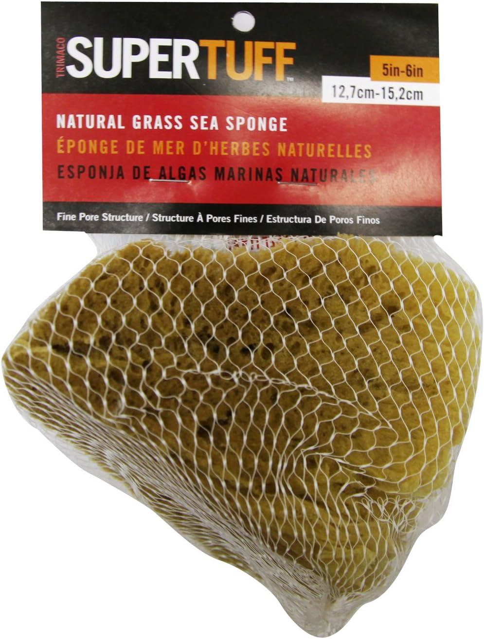 5-6-inches Trimaco SuperTuff Natural Grass Sea Sponge