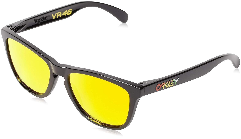 OAKLEY Frogskin gafas de sol, Black W/Fire Irid, 0 Unisex-Adulto