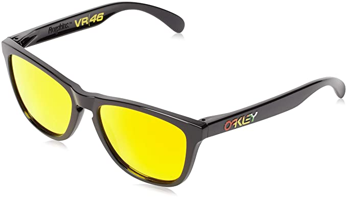 1715e04a95 Oakley Men's Frogskins Valentino Rossi Signature Series Sunglasses,  Polished Black, ...