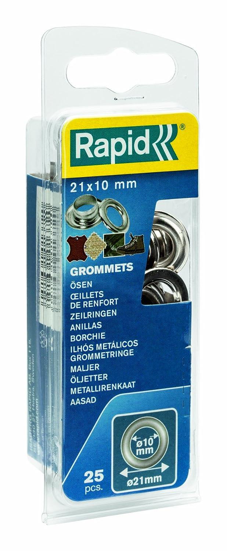 Rapid 5000412 10 x 21 mm Anillas de aluminio