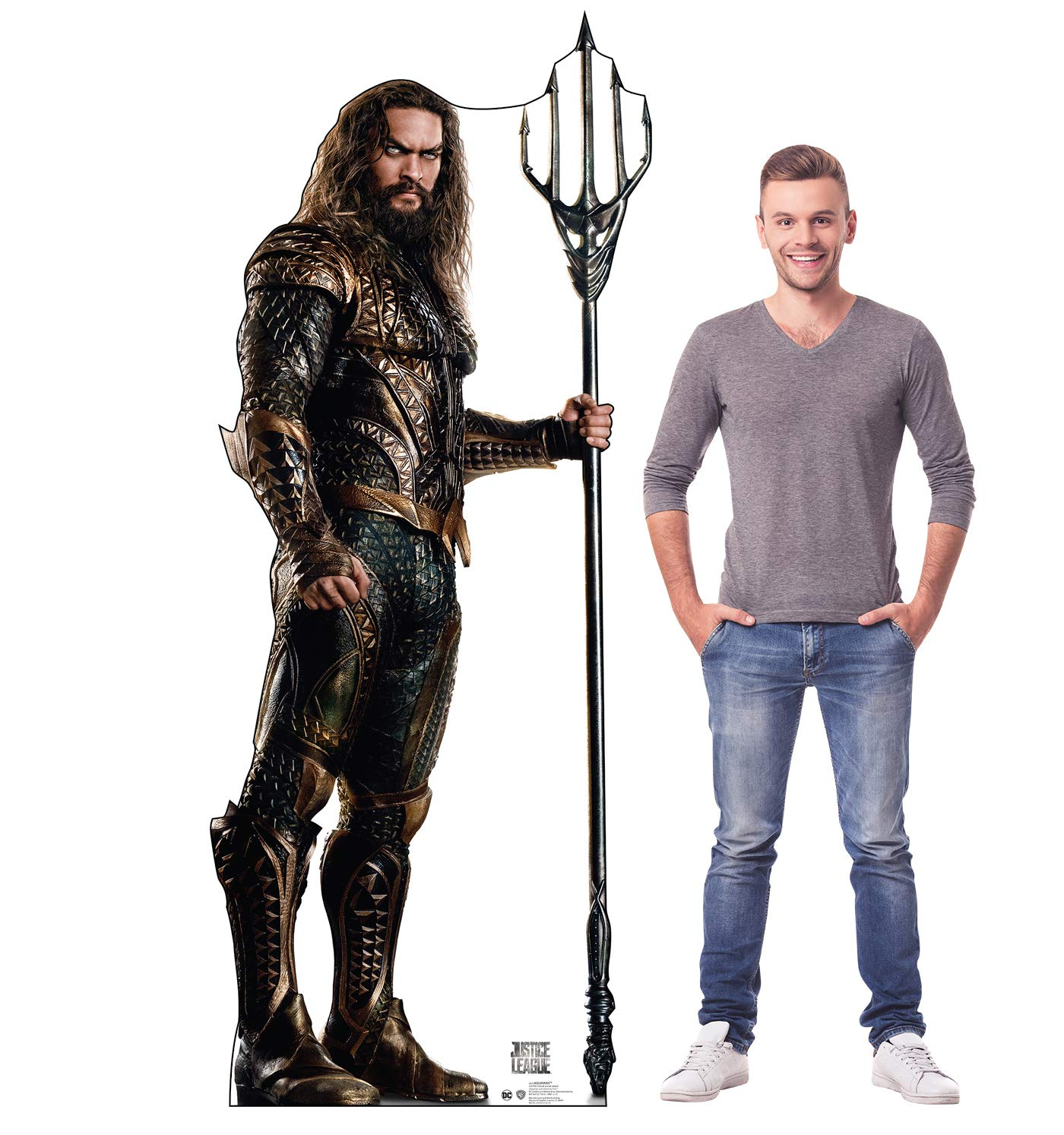 Justice League 2017 Film Advanced Graphics Aquaman Life Size Cardboard Cutout Standup