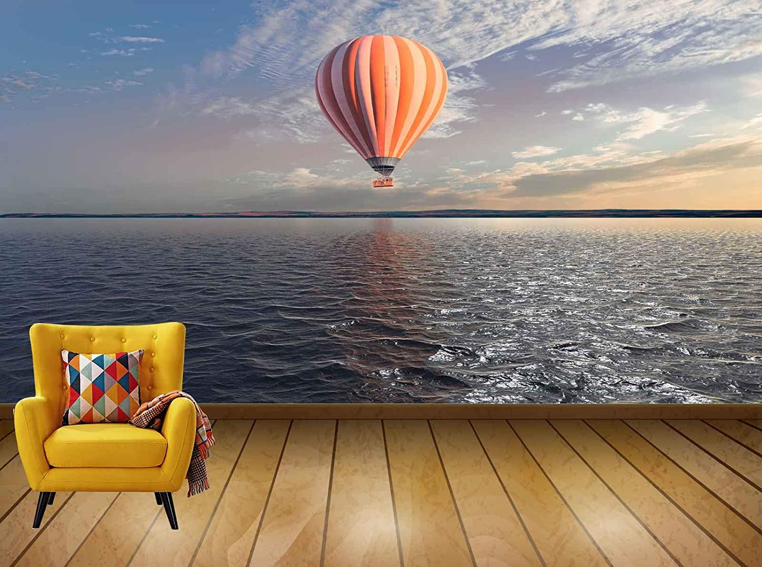 Buy Avikalp Exclusive Awi7548 Hot Air Balloon Water Reflection Sky