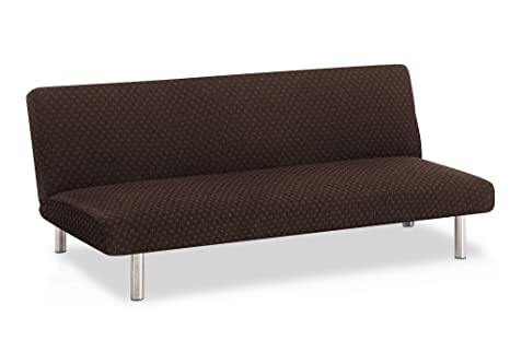 Funda de sofá Clic-clac elástica Olivia - Color Marrón - Tamaño estandar (de 170 a 205)