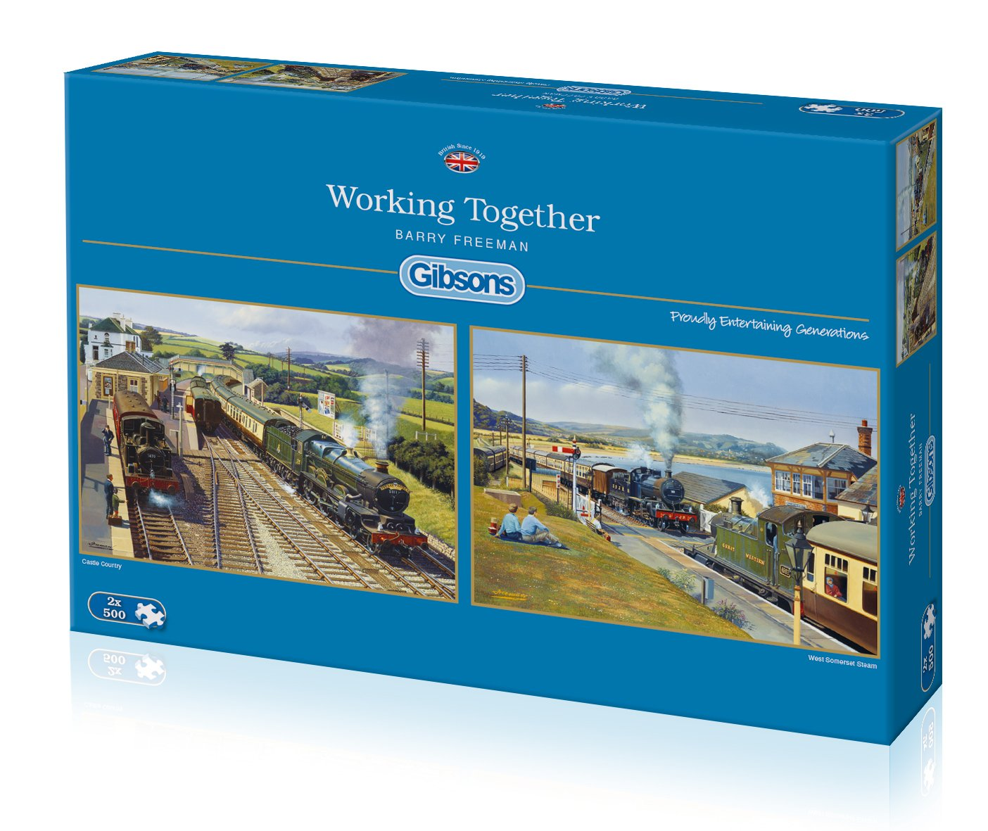 Gibsons Working Together Jigsaw Puzzles (2 x 500 Pieces): Amazon.co ...