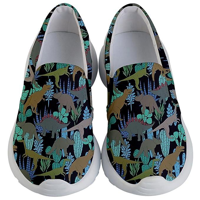 908e6f2a4dbe6 PattyCandy Kids Casual Slip Ons Cute Apatosaurus Dinosaur & Heart Theme for  Boys & Girls Shoes