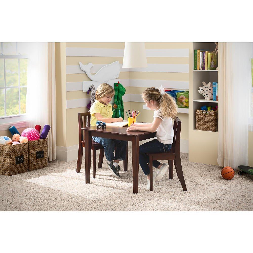 Amazon.com: Babies R Us Next Steps Table & 2 Chairs Set - Espresso ...