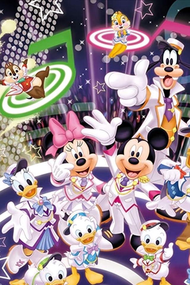 ディズニー 『声の王子様』ミッキーとミニー と仲間たち iPhone(640×960)壁紙画像