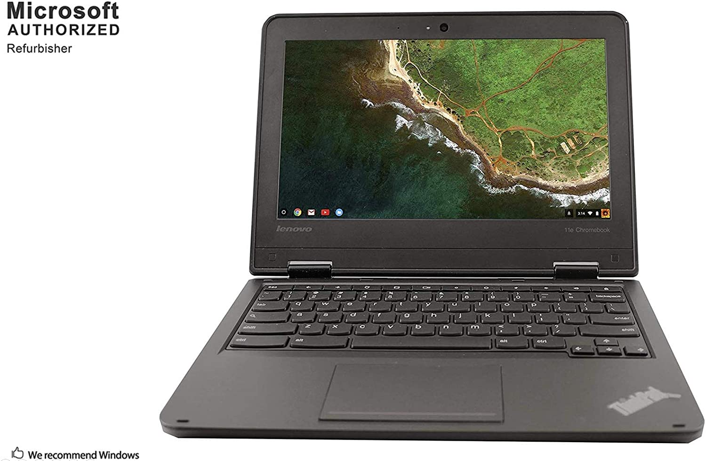 Lenovo ThinkPad 11e Chromebook 11.6 Inch Laptop, Intel Celeron N3150 1.1GHz, 4G RAM, 16G SSD, USB 3.0, Chrome OS(Renewed)