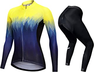 nuckily Radtrikot Damen Set atmungsaktives Skinny Fahrradshorts