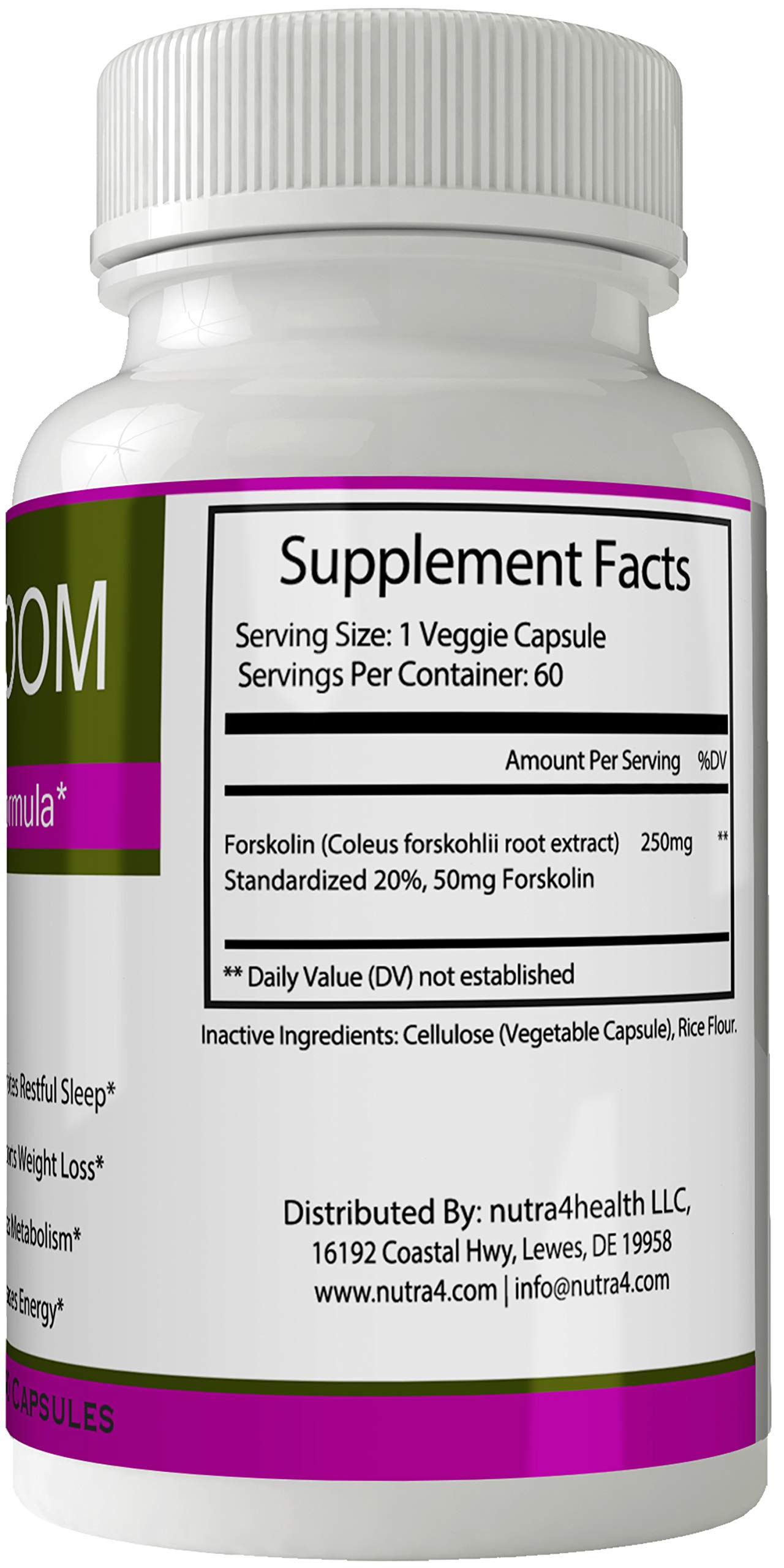 Ketobloom Forskolin for Weight Loss Diet Pills Supplement Capsules with Premium Forskolin Extract Tablets   Keto Bloom High Quality Natural Weightloss by nutra4health LLC (Image #2)