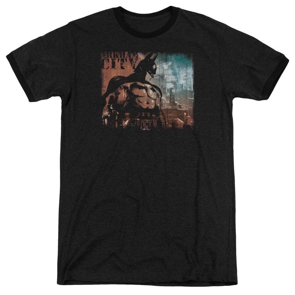 City Knockout Adult Ringer T Sons of Gotham Arkham City Shirt S