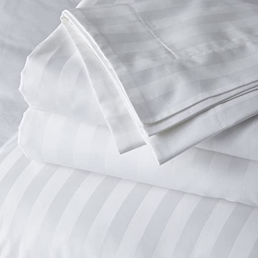 Sizes 1000TC 100 Percent Best Egyptian Cotton Sheet Set All Striped Colors