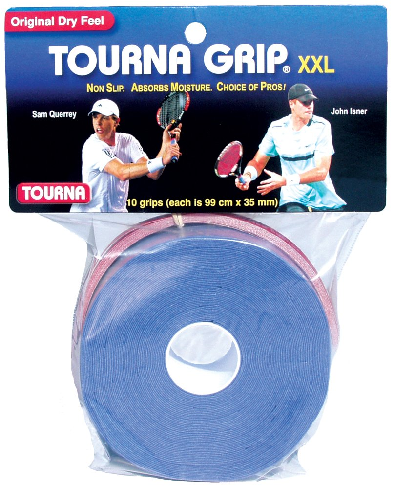 Unique Tourna Grip - Tenis más grip-10 XXL overgrips-absorbent seco Feel tournagrip-blue: Amazon.es: Deportes y aire libre