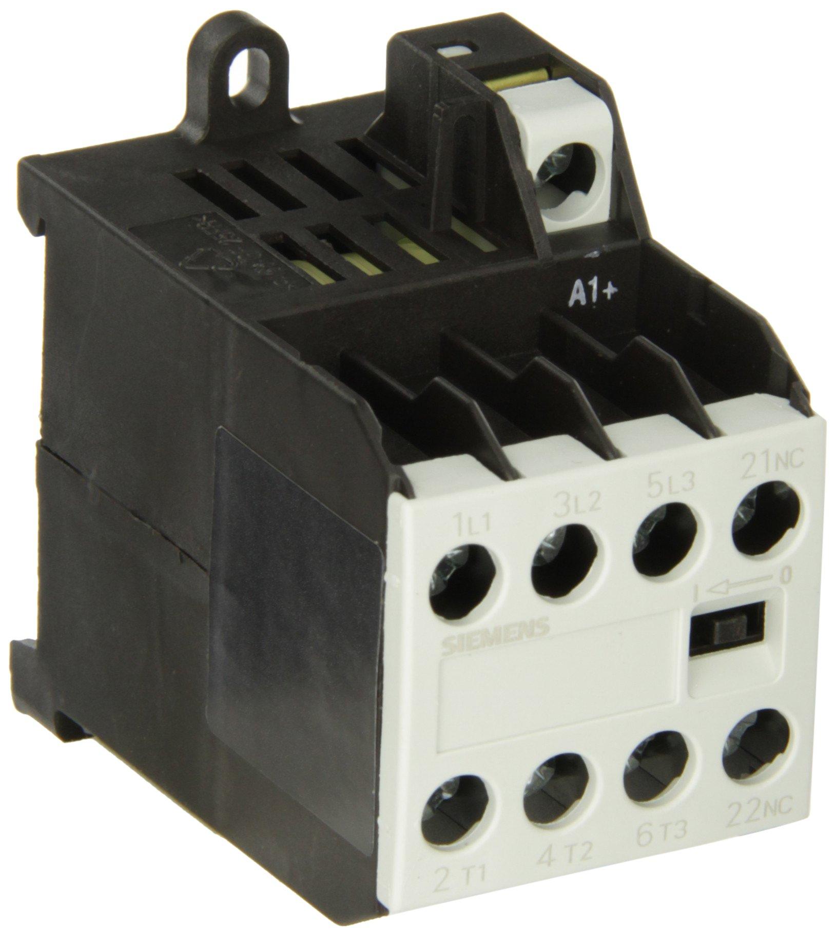 Siemens 3TG10 01-0BB4 Coupling Power Relay, Screw Connections, 4 Pin, Hum Free, 35mm Standard Mounting Rail Size, 3 NO + 1 NC Contacts, 20VDC Max Resistive Load, 5Hp Rating of Three Phase Load at 50Hz, 8.4A Max Inductive Current, 24VDC Control Supply Volt