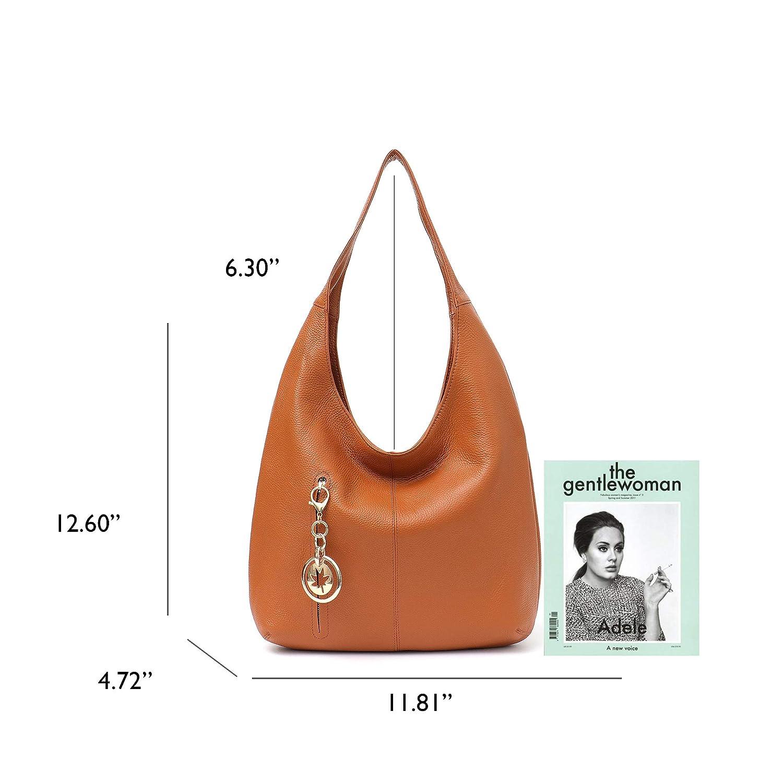 bd7dd159d8d Product description. Women Fashion Real Cow Leather Hobo Bags Handmade Cowhide  Shoulder ...