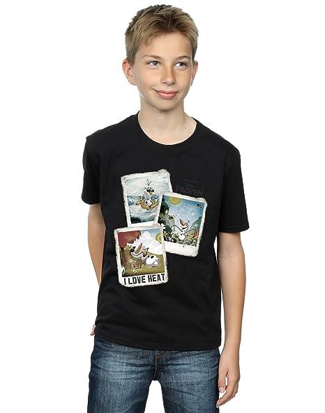 2b0e39f423a004 Amazon.com: Disney Boys Frozen Olaf Polaroid T-Shirt: Clothing