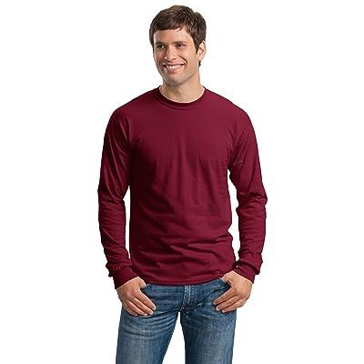 Gildan Adult L/S T-Shirt in Black - Large: Clothing