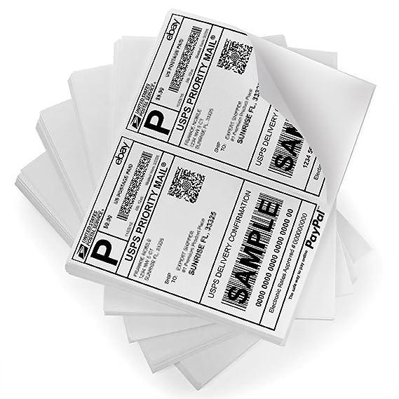 Amazon.com: Mitad Hoja Laser/ink Jet etiquetas de envío USPS ...