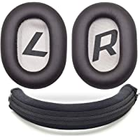 defean Black Headband Protector Protective and Brown Ear Pads Cushion Pillow Parts Cover for Plantronics Backbeat Pro 2…