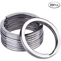 32 mm Titanium Key Rings Split Rings 20 pcs