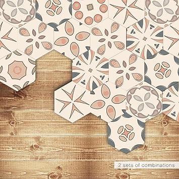 Fesselnd Fliesenaufkleber   Hexagon Fliesensticker Fliesenfolie Designfolie | Fliesen  Aufkleber Sticker Folie Für Küche   Klebefliesen |
