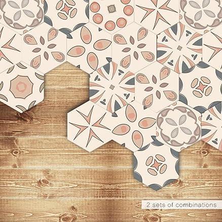 J Adesivi per piastrelle | Esagono Piastrelle adesive decorazione ...