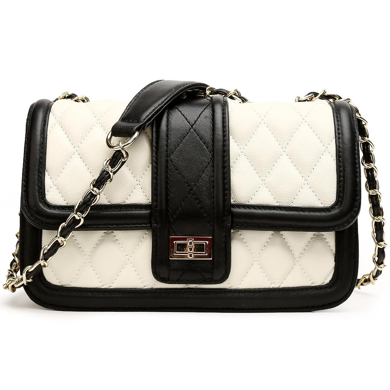 ANA LUBLIN Women Handbag Genuine Leather Lambskin Fashion Quilting Envelope Crossbody Shoulder Bag