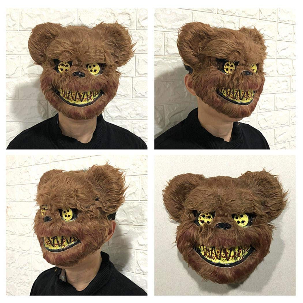 Yuikled Masquerade Horror Scary Headgear Masks Animal Halloween Props Party Suppliers