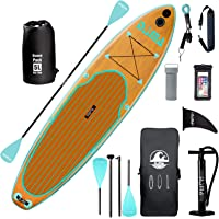 """DAMA 9'6""""/10'6""""/11'Inflatable Stand Up Paddle Board, Yoga Board, Camera Seat, Floating Paddle, Hand Pump, Board Carrier…"""
