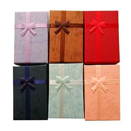 12 Piezas de cartón joyería Regalos Caja para Anillos Collares Pendientes Mostrar Embalaje Caso de Almacenamiento