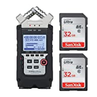 Zoom H4N PRO Digital Multitrack Recorder (2016 Version) + (2x) 32GB SDHC Memory Cards + Willoughby's Microfiber Cleaning cloth