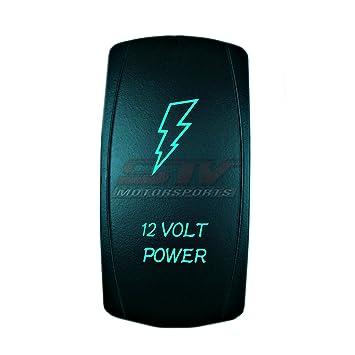 Custom Rocker Switch ON//OFF BLUE BULL BAR LIGHT
