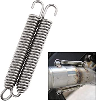 Expansion Chambers Springs 2.36 x 0.4 Inch Exhaust Springs Rotatable Mounting Spring 4pcs For Motorcycle Scooter ATV