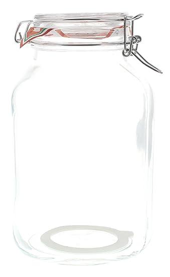 Bormioli Einmachglas Vorratsglas mit Bügelverschluß, 3 Liter: Amazon ...