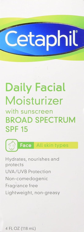 Cetaphil Daily Facial Moisturizer Spf 15 Fragrance Free 4 Fl Oz Beauty
