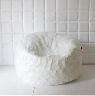 EXTRA LARGE LUSH SOFT WHITE FOX FAUX FUR BEAN BAG CLOUD CHAIRS COVER