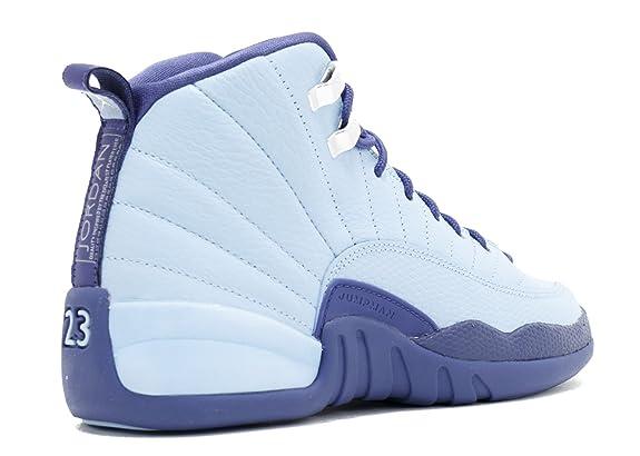 huge selection of 62bd3 39841 Nike Air Jordan Retro 12 HORNETS GS Youth Big Kids Bluecap/Dark Purple  Dust/Metallic Silver 510815-418 (4.5)