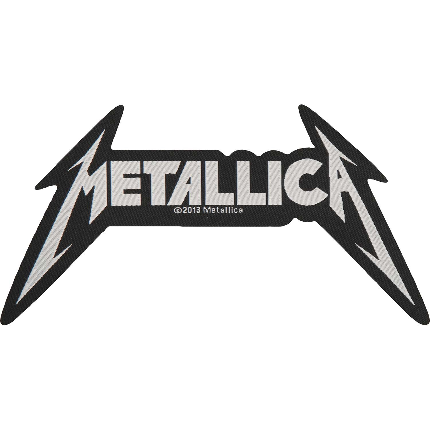 Metallica Shaped Logo Patch Black SP2726