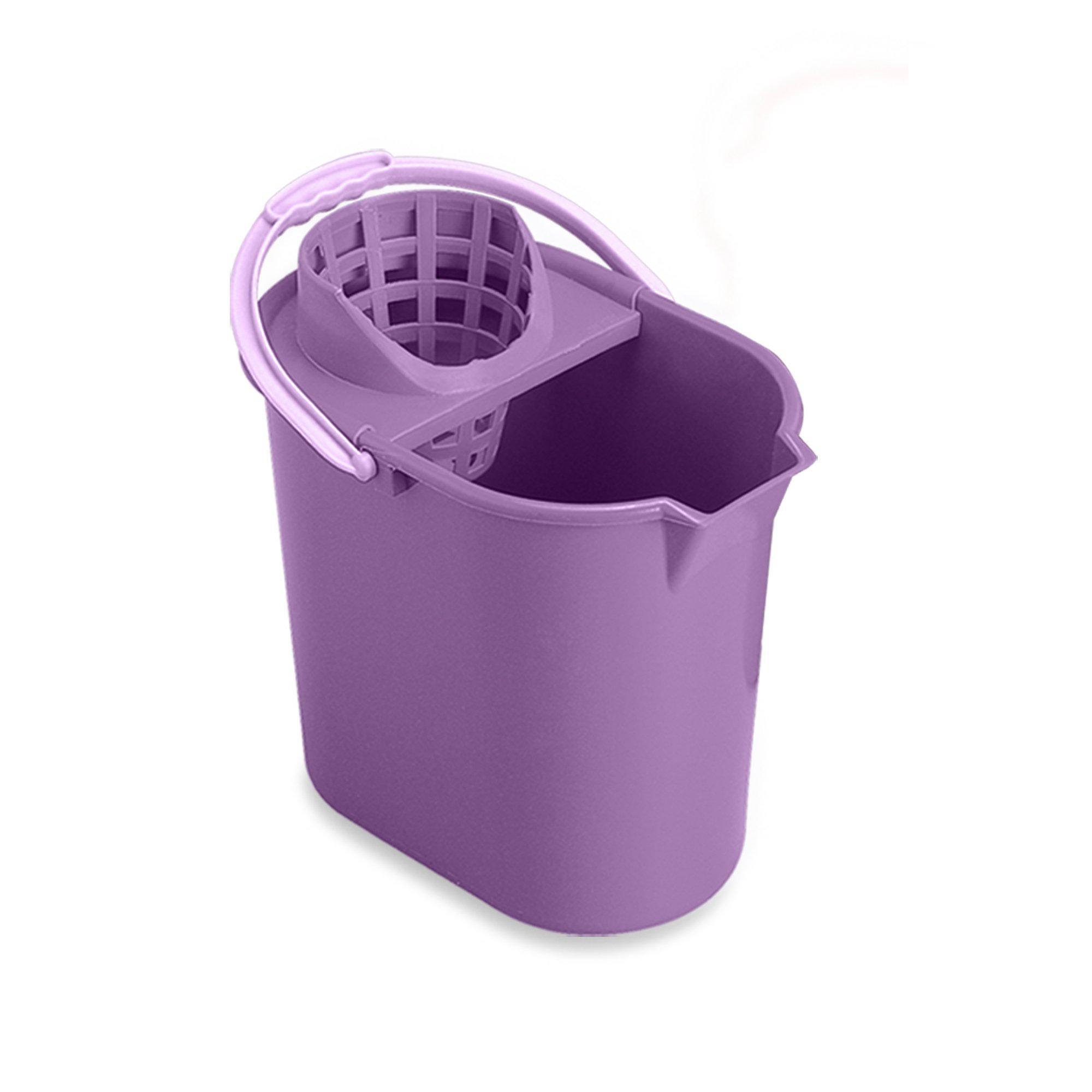 Mery 0312.09 - Cubo de fregar y escurridor, 12 l, color lila product image