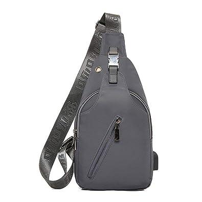 4feba4edb4 Puissant Oxford Men Chest Pack Single Bag USB Charging Crossbody Bags For  Women Sling Shoulder Bag