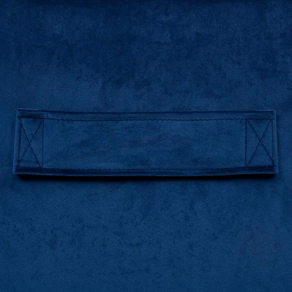 Icon Fauteuils Milano en Velours Bleu Marin 100cm x 90cm Chaise Pouf G/éant en Velours Peluche