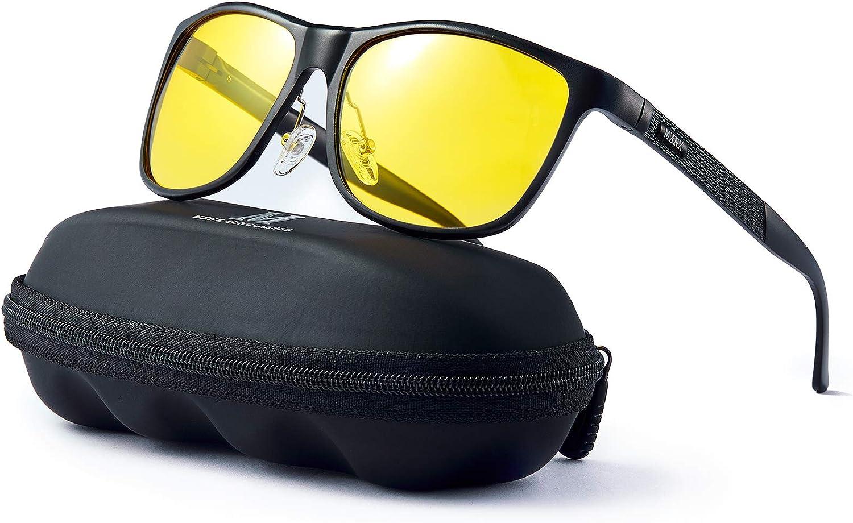 mxnx Polarized Driving Sunglasses for Men Metal Frame Lightweight Rectangular Fishing Sports Womens Mens Sunglasses MX211