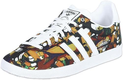 wholesale dealer bb979 2b610 adidas da Donna Gazelle Og WC Farm Footwear-TurquoiseLimeViolaBianco,  Taglia 7 Amazon.it Scarpe e borse