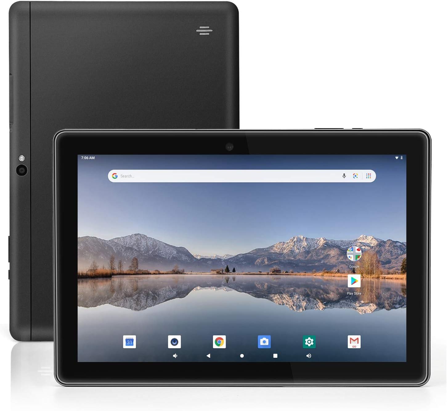 Tablet 10 inch Android 9.0 Pie OS, 4 GB RAM 64 GB Storage, 5MP Rear Camera, Quad-Core Processor, 10.1 inch IPS HD Display, Wi-Fi