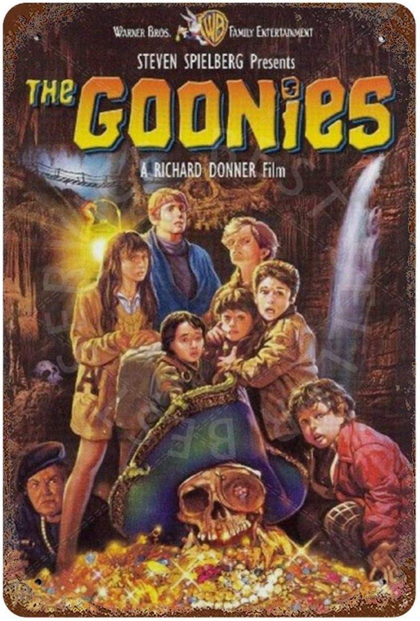 dise/ño vintage GDRAY Placa de metal de The Goonies para decoraci/ón de pared