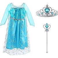 Vicloon - Disfraz de Princesa Elsa - Reino de Hielo - Vestido de Cosplay de Carnaval, Halloween y la Fiesta de…