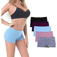 DEEP TOUCH Women's Seamless Boyshort Panties Nylon Underwear Stretch Boxer Briefs