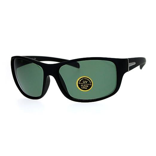 2a9b349c482 Image Unavailable. Image not available for. Color  SA106 Temper Glass Lens  Oversize Plastic Warp Sport Sunglasses Matte Black